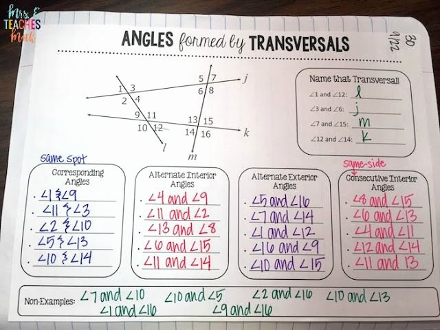Angles In Transversal Worksheet Answers Inspirational 306 Best Images About Geometry Interactive Notebook On