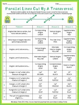 Angles In Transversal Worksheet Answers Luxury Vocabulary Student and Activities On Pinterest