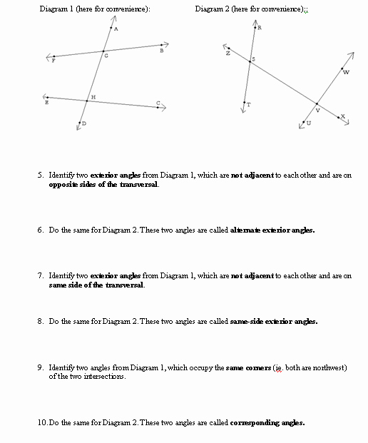 Angles In Transversal Worksheet Answers Unique I Hope This Old Train Breaks Down All About Angles