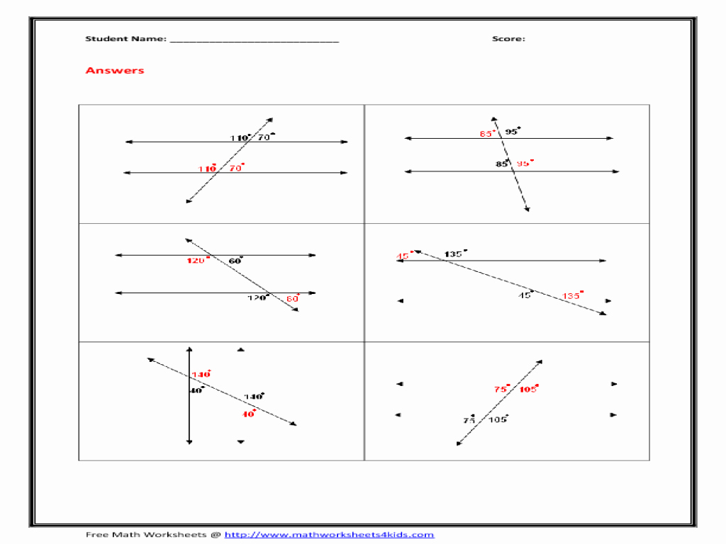 Angles In Transversal Worksheet Answers Unique Transversal Angles Worksheet Worksheets Tutsstar