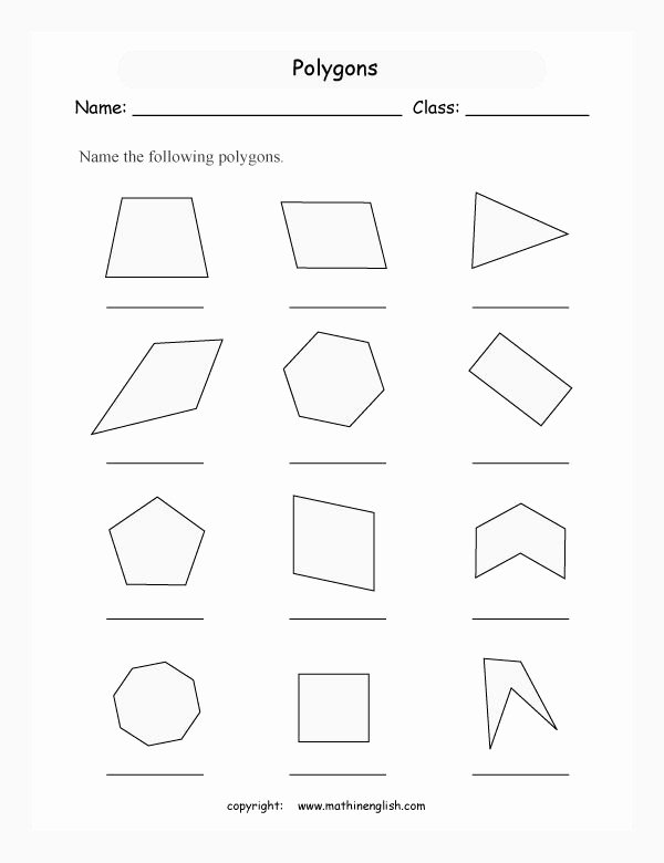 Angles Of Polygon Worksheet Beautiful Names Of Polygons