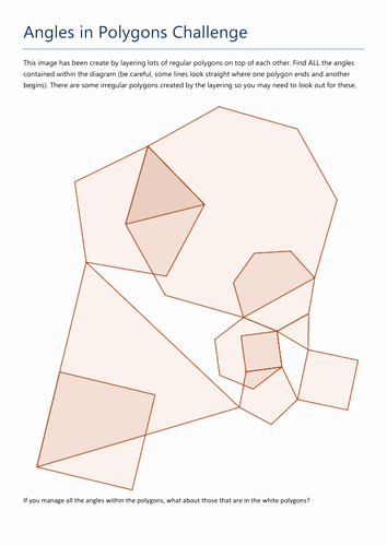 Angles Of Polygon Worksheet Inspirational Angles In Polygons Challenge by Tristanjones