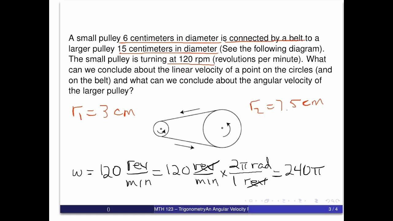 Angular and Linear Velocity Worksheet Elegant An Angular Velocity Problem