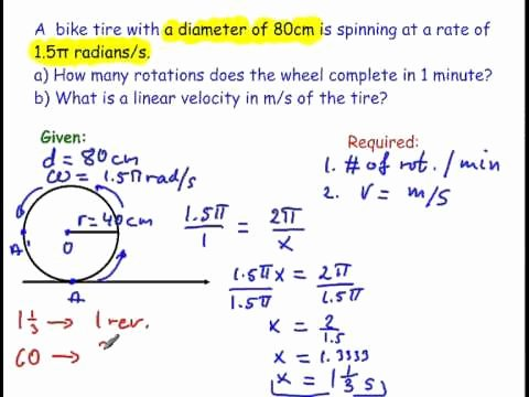 Angular and Linear Velocity Worksheet Unique How to Find An Angular Velocity and A Linear Velocity Wmv