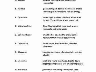 Animal Cells Worksheet Answers Fresh Cells and Classification Worksheets with Answers by