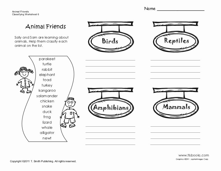 Animal Classification Worksheet Pdf Fresh Sample Worksheet