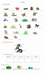 Animal Classification Worksheet Pdf Lovely Animal Classification Esl Worksheet by Cositadulce