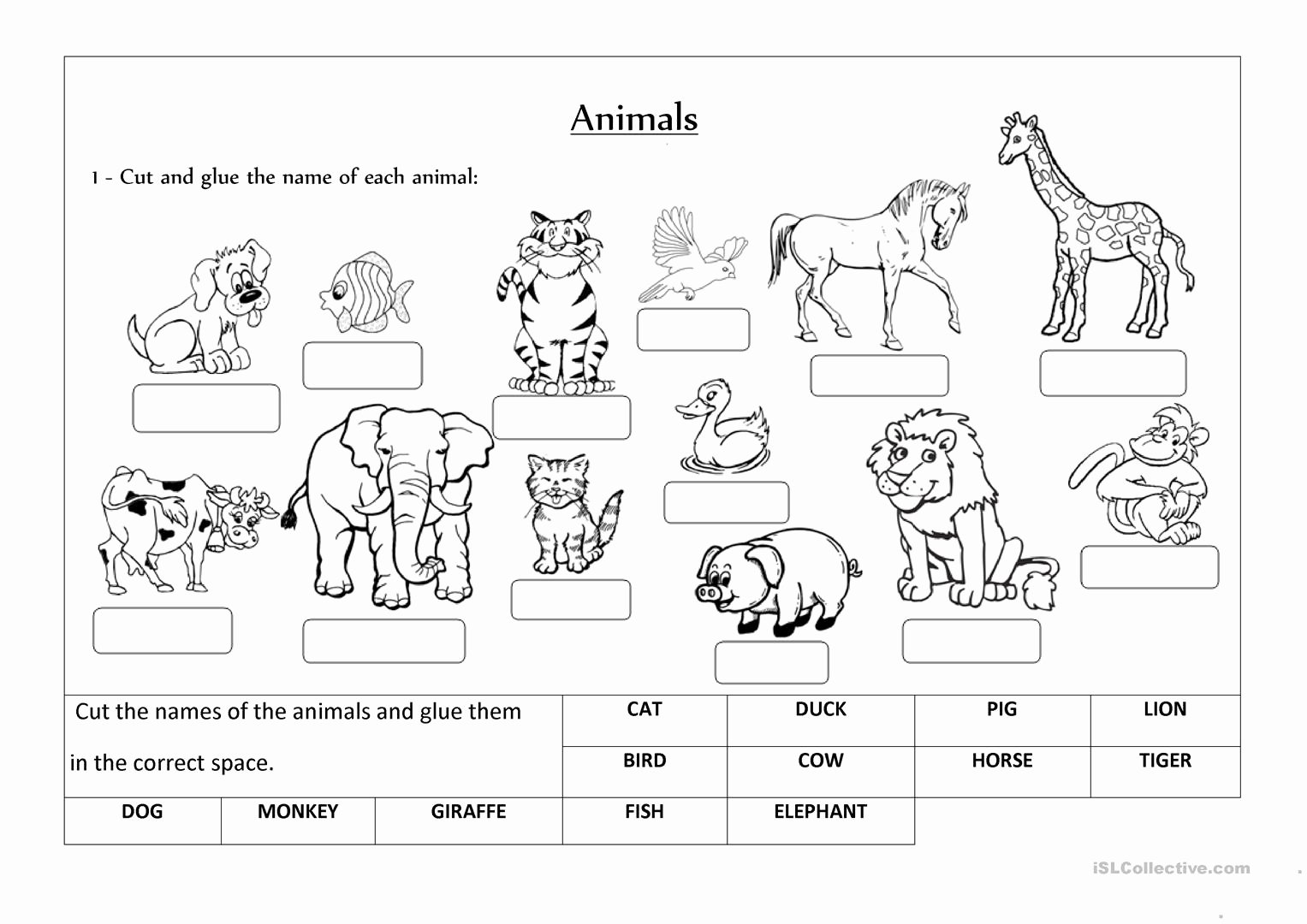 Animal Classification Worksheet Pdf Unique Animals Label and Classify Worksheet Free Esl Printable