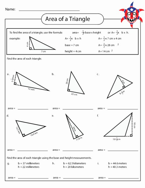 Area Of A Triangle Worksheet Beautiful area Of A Triangle Worksheet 3 Education