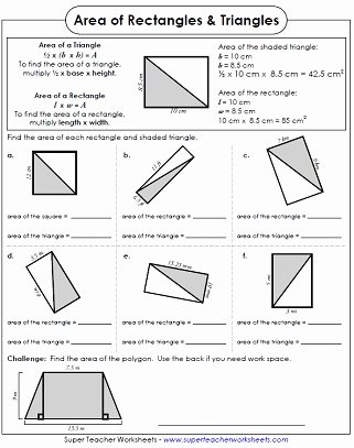 Area Of A Triangle Worksheet Beautiful area Of Triangles Worksheets
