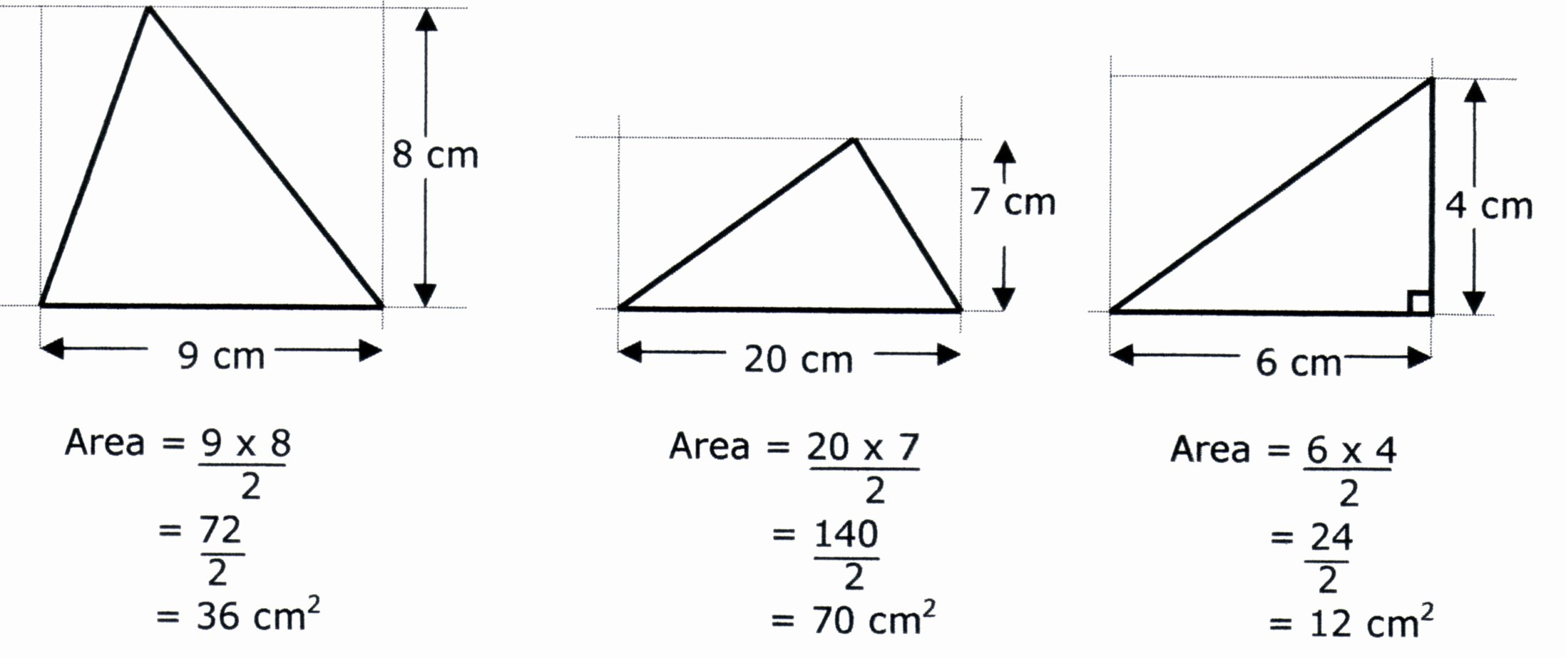 Area Of A Triangle Worksheet Best Of Mr Foote Maths area Of Triangles 7a3