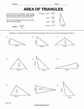 Area Of A Triangle Worksheet New area Triangles Worksheets by Maisonet Math Middle