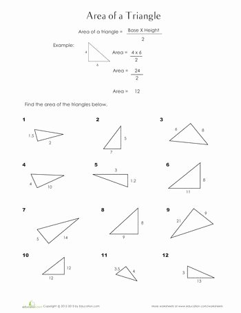 Area Of A Triangle Worksheet Unique 17 Best Ideas About Perimeter Triangle On Pinterest