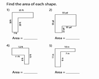 area pound shapes