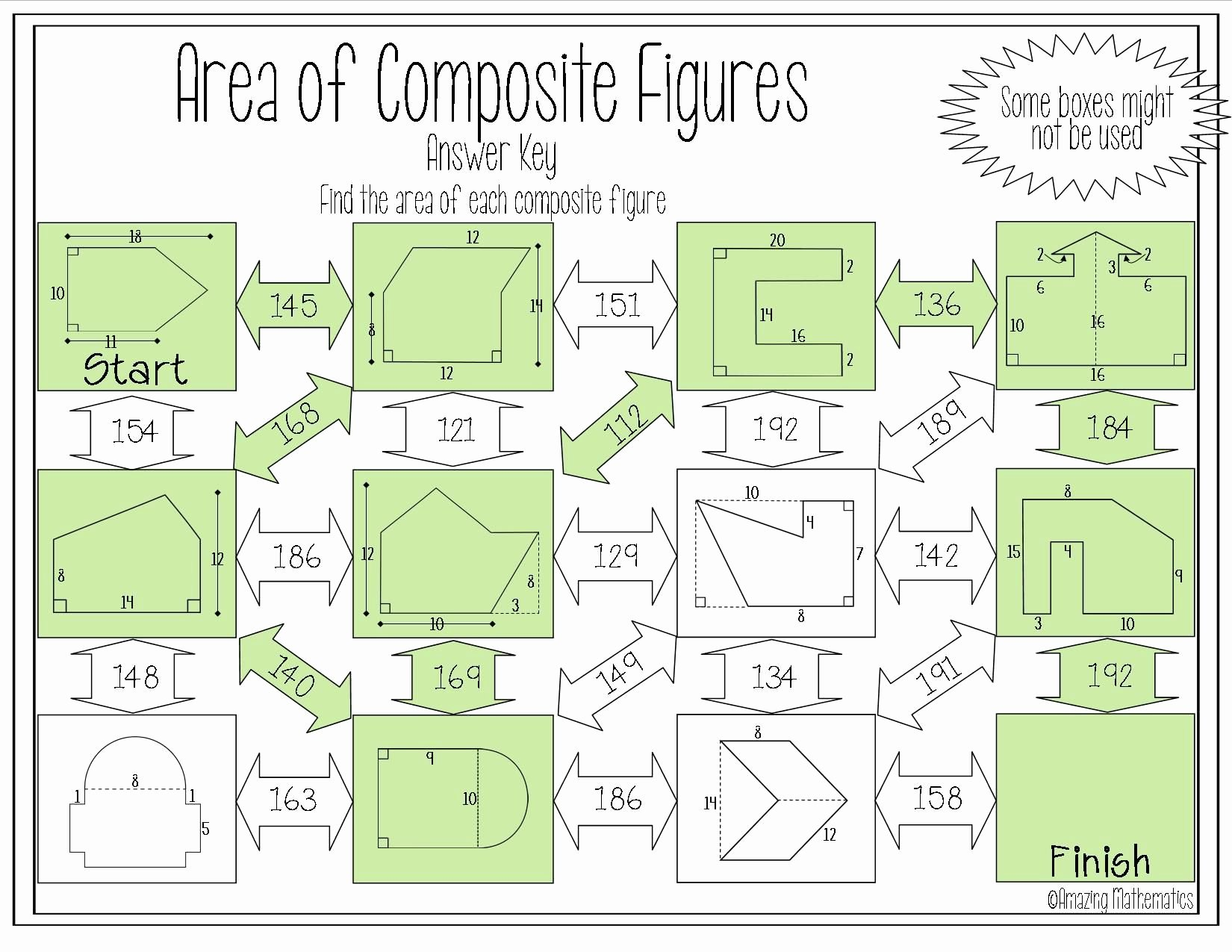 Area Of Composite Figures Worksheet Beautiful area Of Posite Figures Maze Worksheet