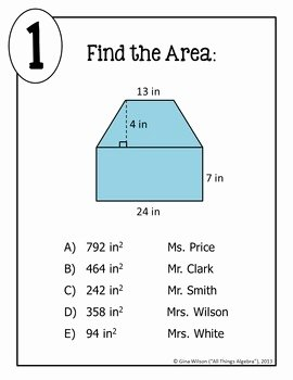 Area Of Composite Figures Worksheet Best Of area Of Posite Figures Math Lib by All Things Algebra