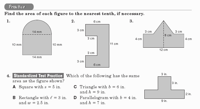 Area Of Composite Figures Worksheet Best Of Posite Figures 7th & 8th