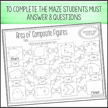 Area Of Composite Figures Worksheet Elegant area Of Posite Figures Worksheet Maze by Amazing