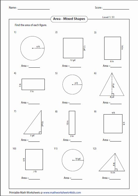 Area Of Composite Figures Worksheet Elegant area Posite Figures Worksheet