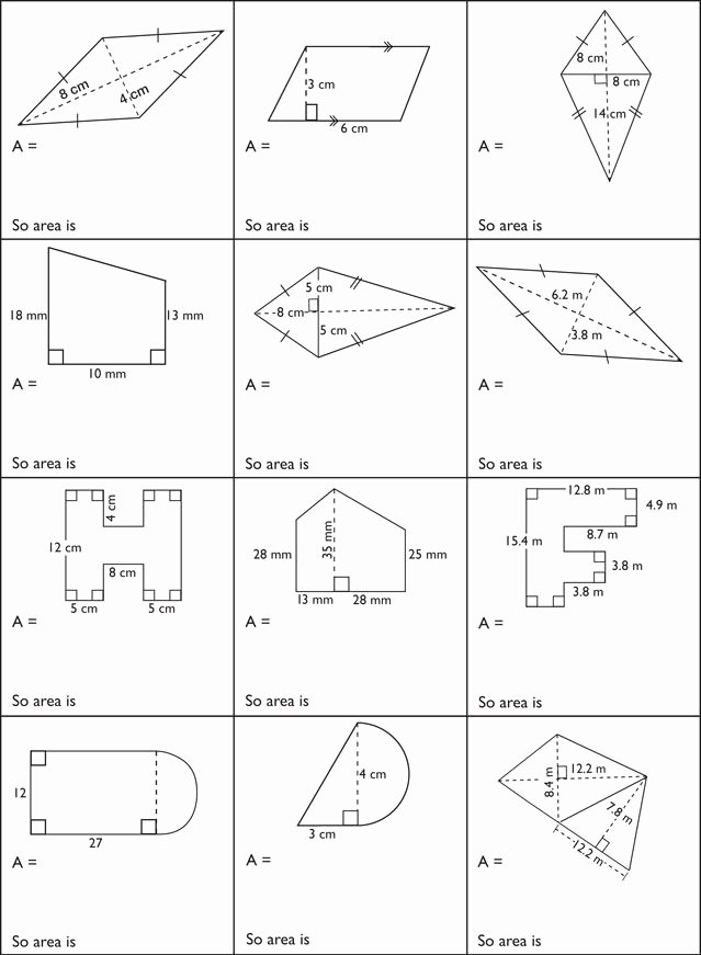 Area Of Composite Figures Worksheet Elegant Measurement – Surface area and Volume