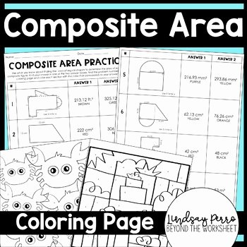 Area Of Composite Figures Worksheet Inspirational area Of Posite Figures Coloring Worksheet by Lindsay