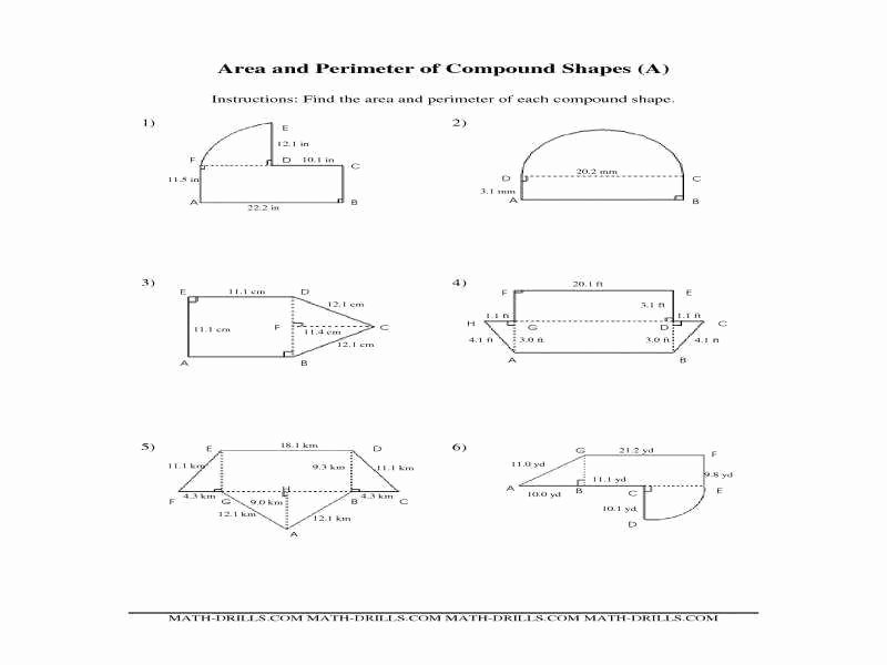 Area Of Composite Figures Worksheet Inspirational area Posite Figures Worksheet