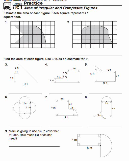Area Of Composite Figures Worksheet Lovely Posite Figures 7th & 8th
