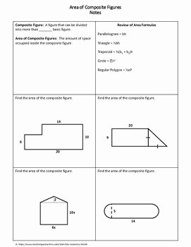 Area Of Composite Figures Worksheet Luxury Geometry Worksheet area Of Posite Figures by My
