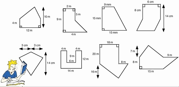 Area Of Composite Figures Worksheet New area Of Polygons Worksheets Free