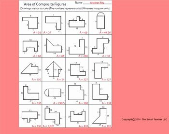 Area Of Composite Figures Worksheet New area Of Posite Figures Worksheet by Kevin Wilda