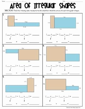 Area Of Irregular Shapes Worksheet Awesome area Of Irregular Shapes Ws by Beachyteach
