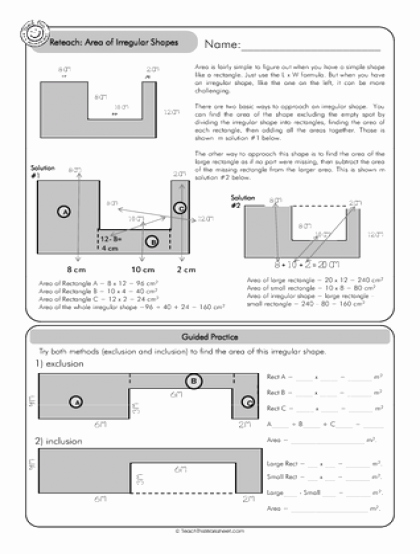 Area Of Irregular Shapes Worksheet Beautiful Teach This Worksheets Create and Customise Your Own