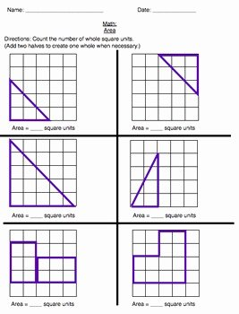 Area Of Irregular Shapes Worksheet Best Of area Mon Core Worksheet Irregular Shapes Grade 3 5 by
