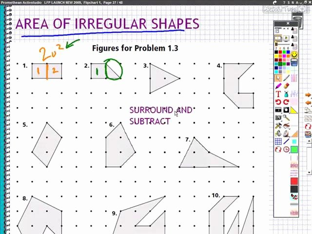 Area Of Irregular Shapes Worksheet Elegant Perimeter and area Of Irregular Shapes Schooltube