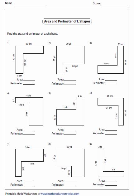 Area Of Irregular Shapes Worksheet Lovely Rectangle Worksheets