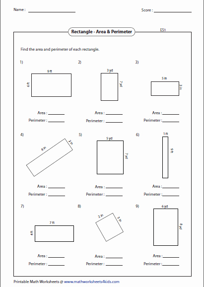 Area Of Parallelogram Worksheet Awesome Rectangle Worksheets
