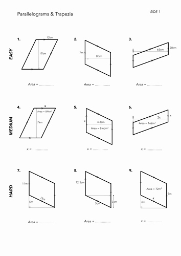 Area Of Parallelogram Worksheet Best Of area Of Quadrilaterals by Jwmcrobert Teaching Resources