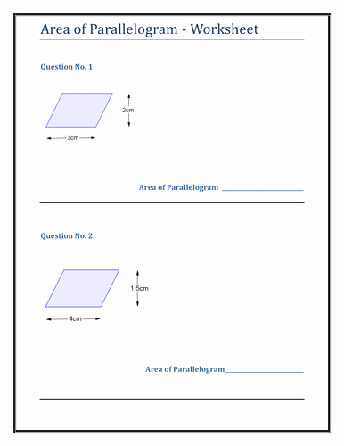 Area Of Parallelogram Worksheet Elegant Geometry & Measure Parallelogram Worksheet by Tes Km