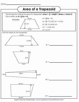 Area Of Parallelogram Worksheet Fresh area Trapezoid Worksheet