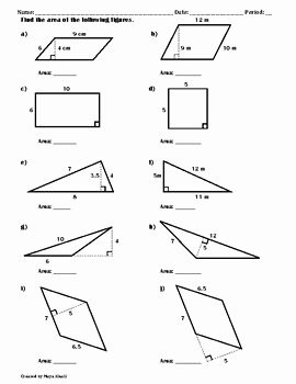 Area Of Parallelogram Worksheet Inspirational Finding the area Of Polygons Worksheet Ii by Maya Khalil