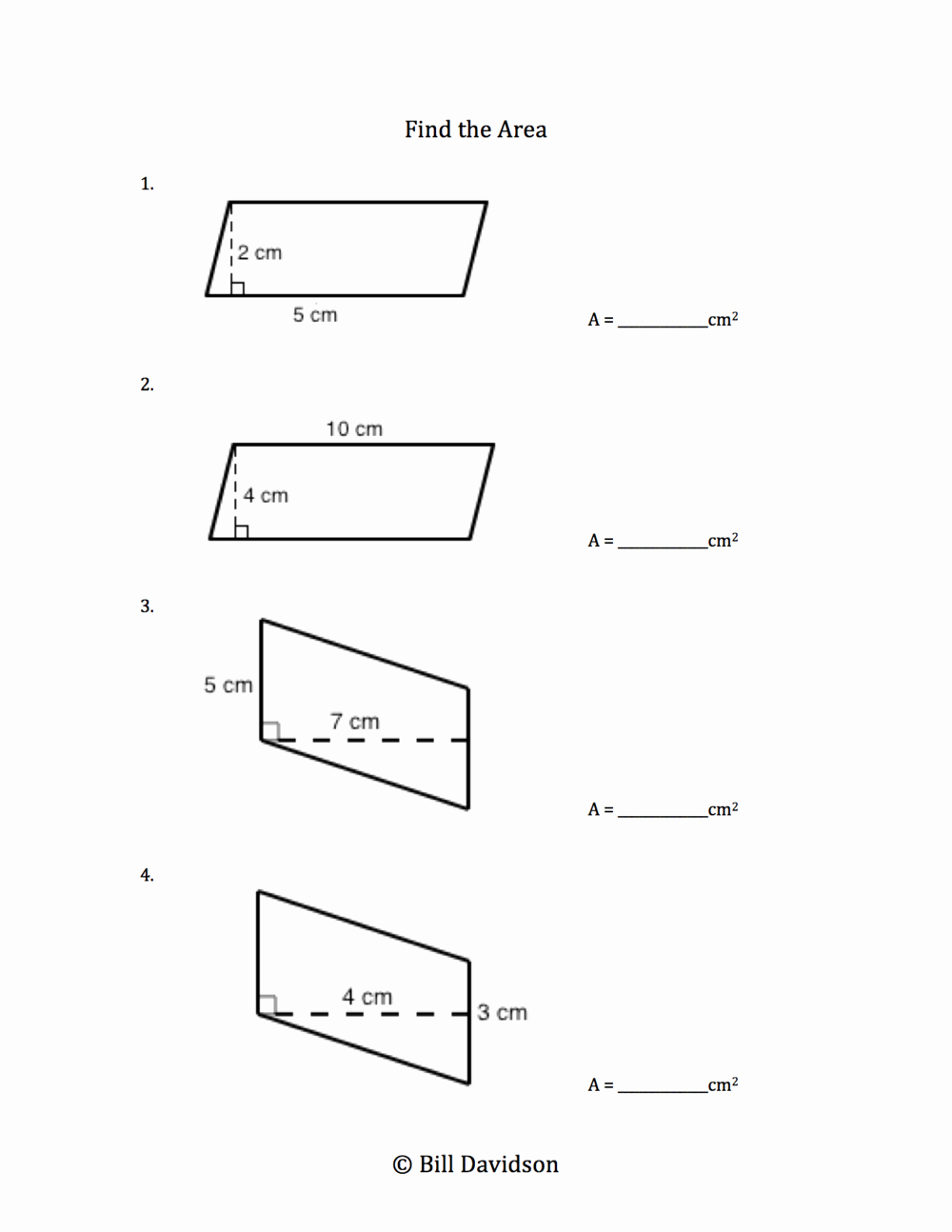 Area Of Parallelogram Worksheet Luxury Worksheet area Parallelogram Worksheet Grass Fedjp