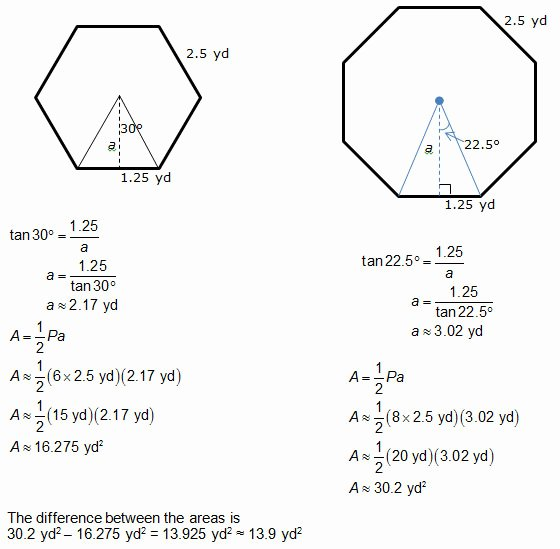 Area Of Regular Polygons Worksheet Awesome Geometry area Apothem Worksheet Answers