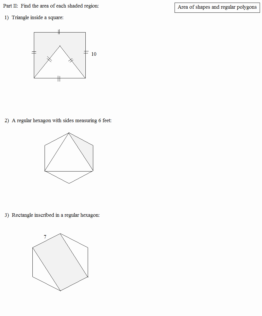 Area Of Regular Polygons Worksheet Beautiful Math Plane area and Perimeter Of Polygons 2