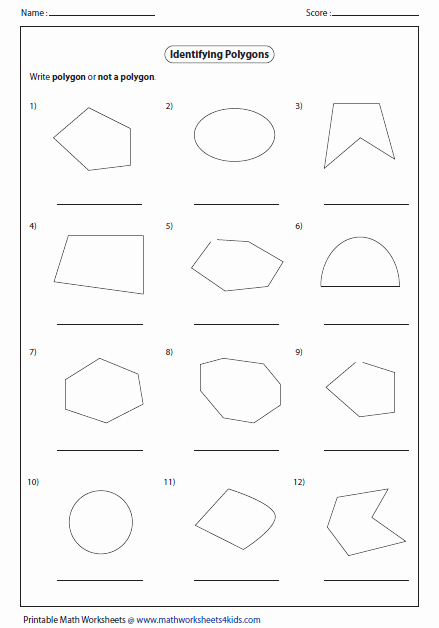 Area Of Regular Polygons Worksheet Inspirational Identify Polygon or Not A Polygon