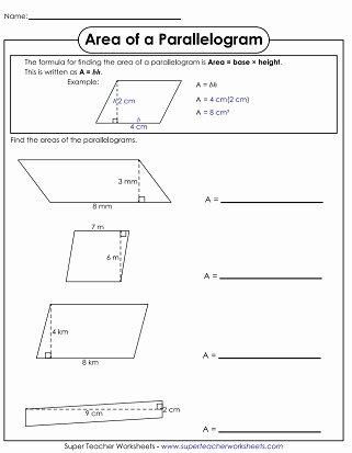 Area Of Rhombus Worksheet Beautiful area Of Parallelograms & Trapezoids Worksheets