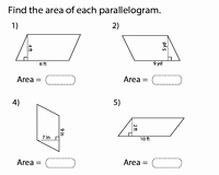 Area Of Rhombus Worksheet Beautiful area Of Parallelograms Worksheets