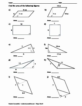 Area Of Rhombus Worksheet Best Of Finding the area Of Polygons Worksheet Ii