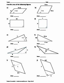 Area Of Rhombus Worksheet Best Of Finding the area Of Polygons Worksheet Ii