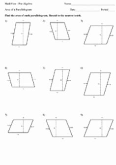 Area Of Rhombus Worksheet Elegant 1000 Images About M7 Geometry On Pinterest