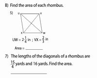 Area Of Rhombus Worksheet Elegant area Of Rhombus Worksheets